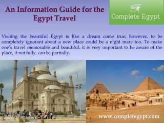 An Information Guide for the Egypt Travel