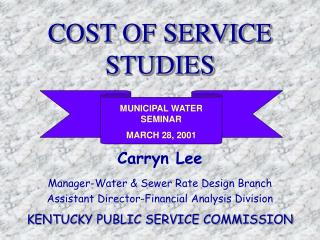 COST OF SERVICE STUDIES