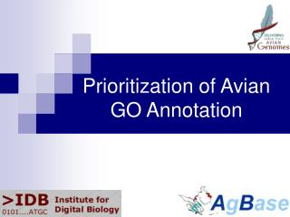 Prioritization of Avian GO Annotation