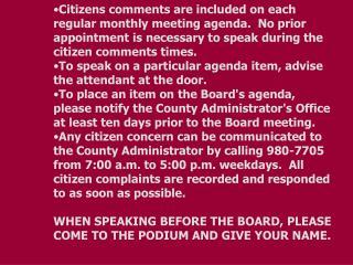 BOARD AGENDA           Regular Meeting PULASKI COUNTY                 May 10, 2011