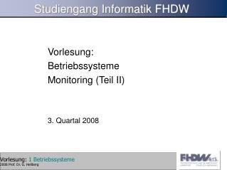 Studiengang Informatik FHDW