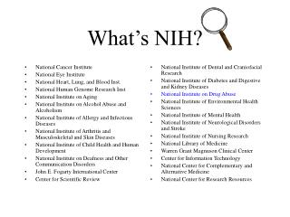 What's NIH?