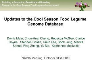 Updates to the Cool Season Food Legume  Genome Database