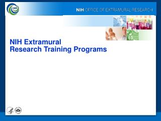 NIH Extramural  Research Training Programs