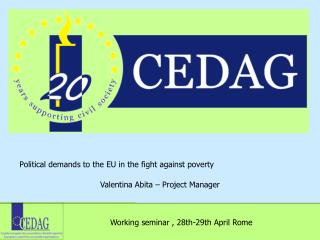 Political demands to the EU in the fight against poverty