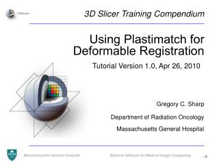 Using Plastimatch for Deformable Registration