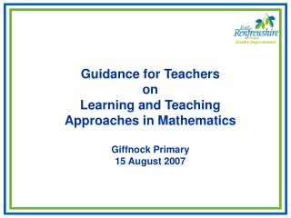 Guidance for Teachers