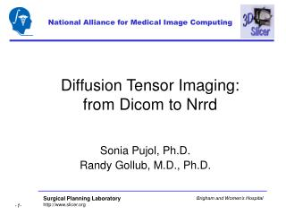 Diffusion Tensor Imaging:  from Dicom to Nrrd
