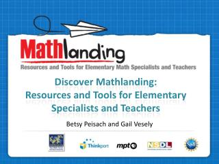 Discover Mathlanding: Resources and Tools for Elementary Specialists and Teachers