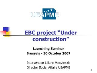 "EBC project ""Under construction"""