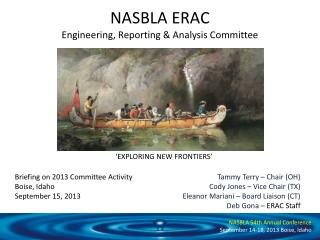 NASBLA ERAC Engineering, Reporting & Analysis Committee
