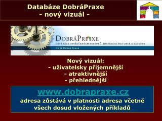 Databáze DobráPraxe - nový vizuál -