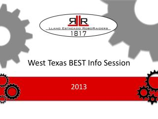 West Texas BEST Info Session