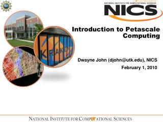 Introduction to Petascale Computing