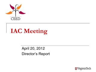 IAC Meeting