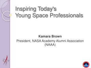 Inspiring Today's  Young Space Professionals