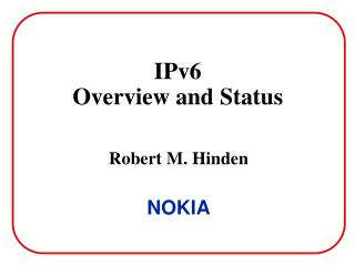 IPv6 Overview and Status