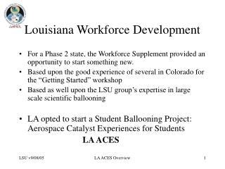 Louisiana Workforce Development