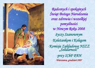 Radosnych i spokojnych Świąt Bożego Narodzenia oraz zdrowia i wszelkiej pomyślności