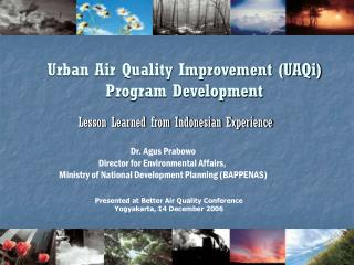 Urban Air Quality Improvement (UAQi) Program Development