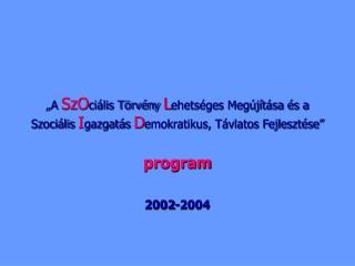 program 2002-2004