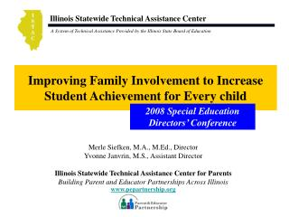Improving Family Involvement to Increase Student Achievement for Every child