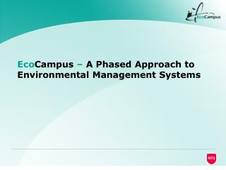 EcoCampus   A Phased Approach to Environmental Management Systems
