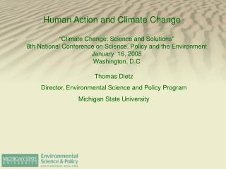 Human Action and Climate Change
