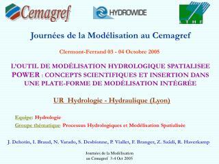 Journées de la Modélisation au Cemagref