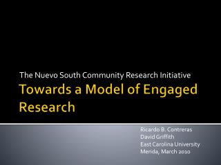 Towards a Model of Engaged Research