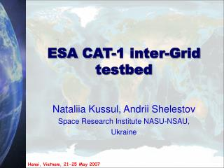 ESA  CAT-1 inter-Grid testbed