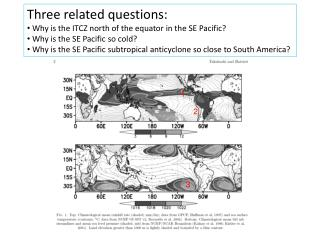 Three related questions:  Why is the ITCZ north of the equator in the SE Pacific?