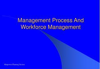 Management Process And Workforce Management