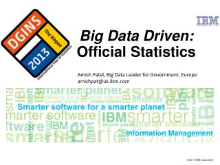 Big Data Driven: Official Statistics
