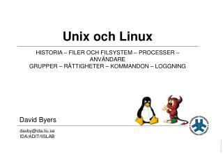 Unix och Linux