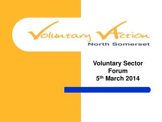 Voluntary Sector Forum 5 th  March 2014