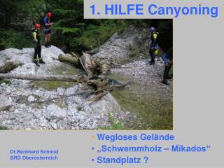 1. HILFE Canyoning
