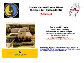 Update der medikament�sen Therapie der  Osteoarthritis  (Arthrose)