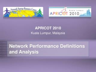 Network Performance Definitions and Analysis