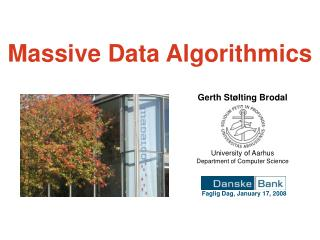 Massive Data Algorithmics