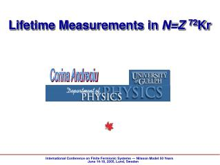 Lifetime Measurements in  N=Z 72 Kr