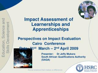 Impact Assessment of Learnerships and Apprenticeships   Perspectives on Impact Evaluation