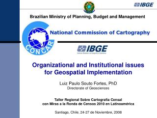Organizational and Institutional issues for Geospatial Implementation