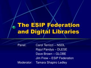 The ESIP Federation and Digital Libraries
