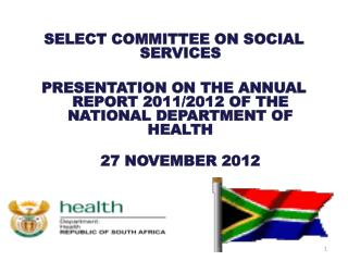 SELECT COMMITTEE ON SOCIAL SERVICES