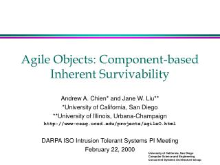 Agile Objects: Component-based Inherent Survivability