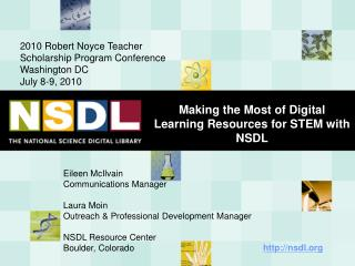 Making the Most of Digital Learning Resources for STEM with NSDL
