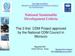 National Sustainable Development Criteria