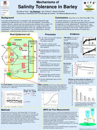 Mechanisms of  Salinity Tolerance in Barley