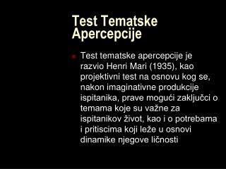 Test Tematske Apercepcije